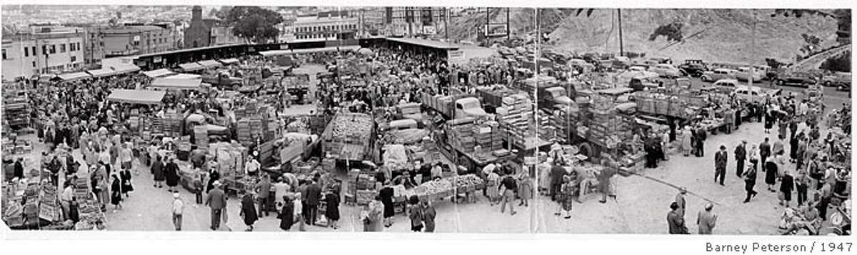 AFJ Special Issue 07/07/05 Photo of farmer's market on Market Street and Duboce Avenue 1947 by Barney Peterson