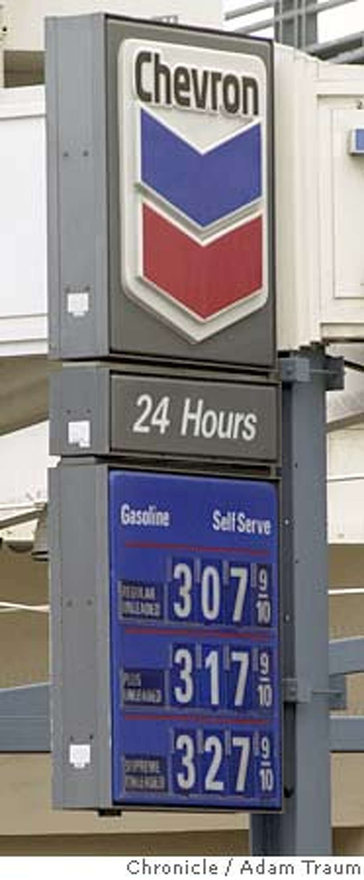 Gas prices are averaging 3 dollars for regular unleaded at Bay Area gas stations. Photo by Adam Traum/The Chronicle MAGS OUT