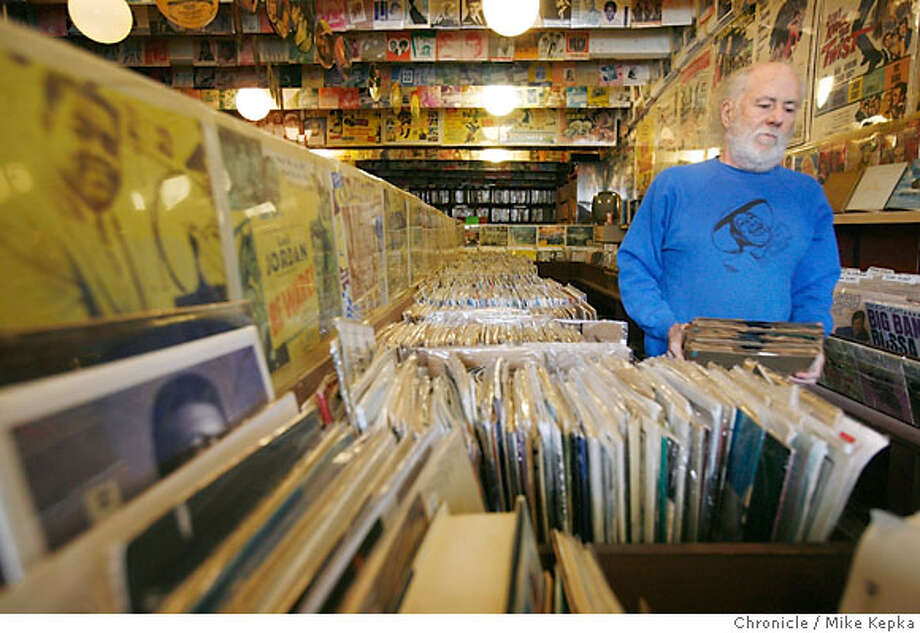 soundscene_villiagemusic00214_mk.jpg  John Goddard, owner of Village Music in Mill Valley, will be closing the the store for the last time in September this year. 2/2/07.  Mike Kepka / The Chronicle John Goddard (cq) the source Photo: Mike Kepka