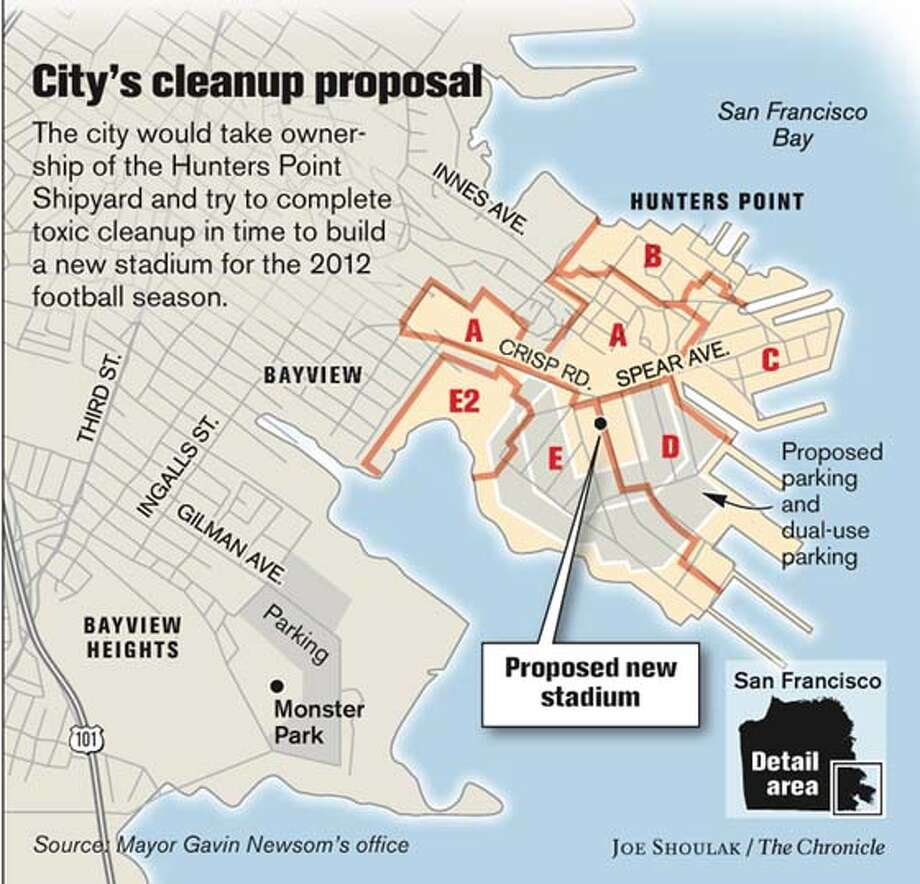 City�s Cleanup Proposal. Chronicle graphic by Joe Shoulak