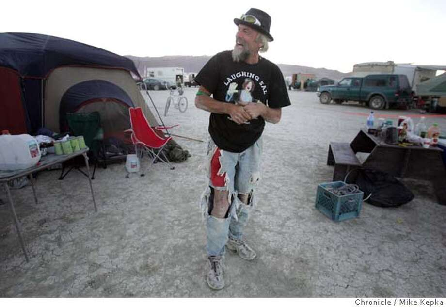 Flash is a Burning Man celebrity of sorts who seems to recognized everywhere he goes on the playa.  Mike Kepka / The Chronicle Photo: Mike Kepka