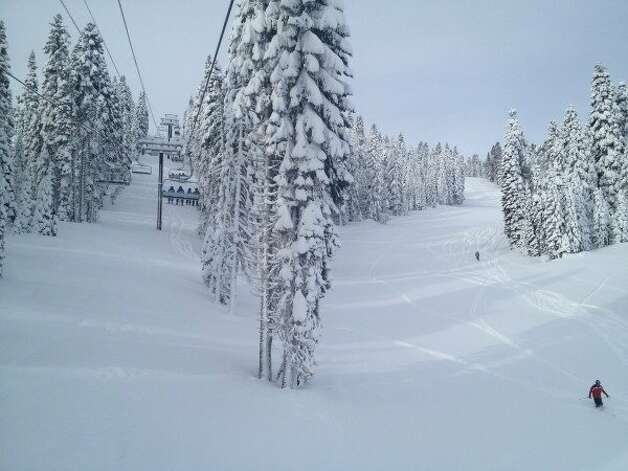 The view from the Zephyr Express at Northstar, March 17, 2012 Photo: Courtesy Of Northstar