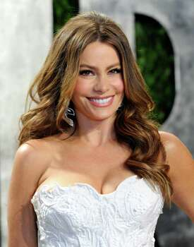 Sofia Vergara arrives at the Vanity Fair Oscar party on Sunday, Feb. 26, 2012, in West Hollywood, Calif. Photo: AP