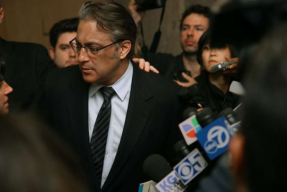 Sheriff Ross Mirkarimi in San Francisco, Calif., talking to press after his sentencing on Monday, March 19, 2012. Photo: Liz Hafalia, The Chronicle