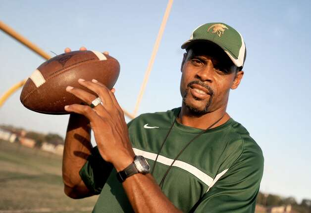 Coach Daryl Hobbs has taken over the '09 winless team at Legacy Christian High School  and turned it around to put them within one game of getting into the play-offs in Beaumont, Tuesday. Tammy McKinley/The Enterprise Photo: TAMMY MCKINLEY / Beaumont