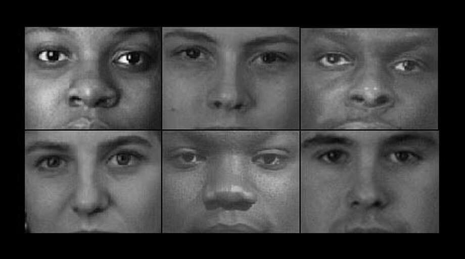 This is a composite of images shown on the Implicit Association Test for racial bias, which asks test-takers to associate words with rapidly flashing images. It is part of the Project Implicit online lab, which was created by three professors, including University of Washington professor Tony Greenwald.