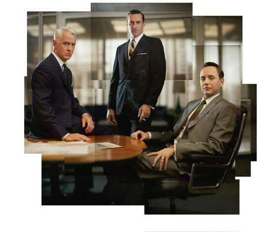 Roger Sterling (John Slattery), Don Draper (Jon Hamm) and Pete Campbell (Vincent Kartheiser) - Mad Men - Season 5 - Gallery - Photo Credit: Frank Ockenfels/AMC Photo: Frank Ockenfels/AMC