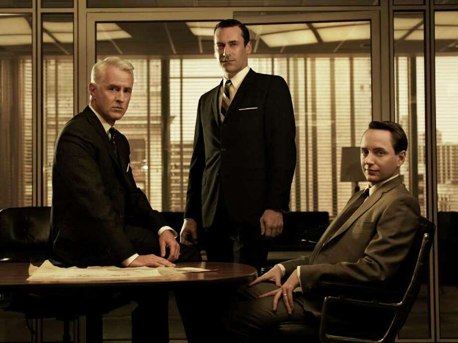 Roger Sterling (John Slattery), Don Draper (Jon Hamm) and Pete Campbell (Vincent Kartheiser) - Mad Men - Season 5 - Gallery - Photo Credit: Frank Ockenfels/AMC Photo: Frank Ockenfels/AMC / Copyright: AMC 2012