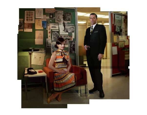 Peggy Olson (Elisabeth Moss) and Don Draper (Jon Hamm) - Mad Men - Season 5 - Gallery - Photo Credit: Frank Ockenfels/AMC Photo: Frank Ockenfels/AMC