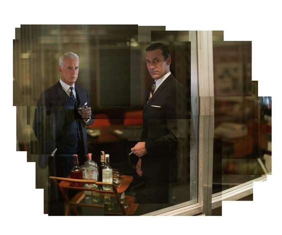 Roger Sterling (John Slattery) and Don Draper (Jon Hamm) - Mad Men - Season 5 - Gallery - Photo Credit: Frank Ockenfels/AMC Photo: Frank Ockenfels/AMC