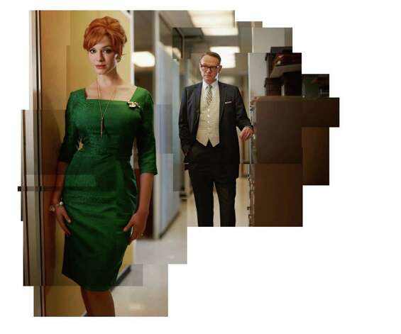 Joan Harris (Christina Hendricks) and Lane Pryce (Jared Harris) - Mad Men - Season 5 - Gallery - Photo Credit: Frank Ockenfels/AMC Photo: Frank Ockenfels/AMC