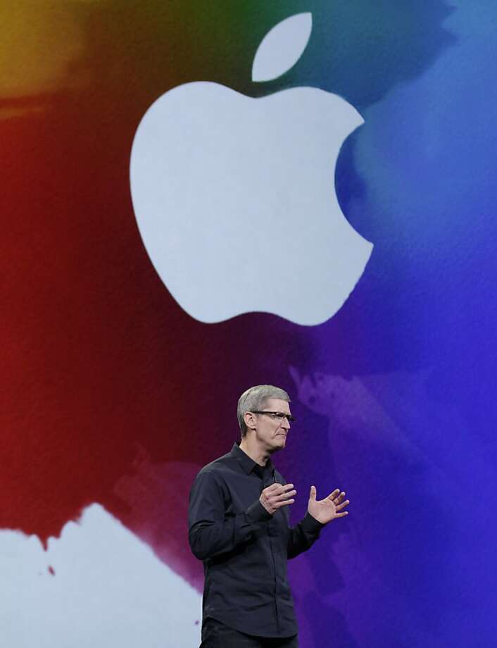 Tim Cook, Apple chief executive officer, speaks during an Apple product launch event at the Yerba Buena Center for the Arts on Wednesday, March 7, 2012 in San Francisco, Calif. Photo: Lea Suzuki, The Chronicle
