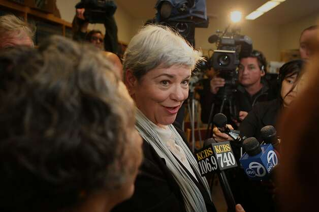 Beverly  Upton, executive director of the San Francisco Domestic Violence Consortium comments on Sheriff Ross Mirkarimi's sentence in San Francisco, Calif., on Monday, March 19, 2012. Photo: Liz Hafalia, The Chronicle