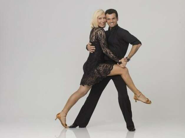 "DANCING WITH THE STARS - MARTINA NAVRATILOVA & TONY DOVOLANI - Tennis legend and cultural icon Martina Navratilova teams with Tony Dovolani, who returns for a 13th season. The two-hour season premiere of ""Dancing with the Stars"" airs MONDAY, MARCH 19 (8:00-10:01 p.m., ET) on the ABC Television Network.  (ABC/BOB D'AMICO) Eliminated March 27. (ABC)"
