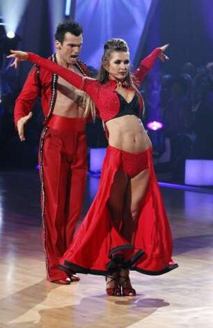 "Audrina Patridge and partner Tony Dovolani perform on ""Dancing with the Stars"" in 2010.  (Adam Larkey / AP)"