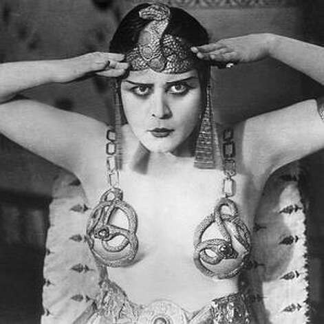 "Theda Bara in ""Cleopatra"" (1917):  The first of the screen vamps, she was pale and dark and played women who used sex in a willfully malevolent way. The first impulse is to laugh -- but look closer.  Is she really that far from us?"