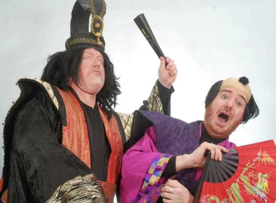 David Morrow (The Mikado) threatens Scott Brill (Ko-ko) Photo: Contributed Photo