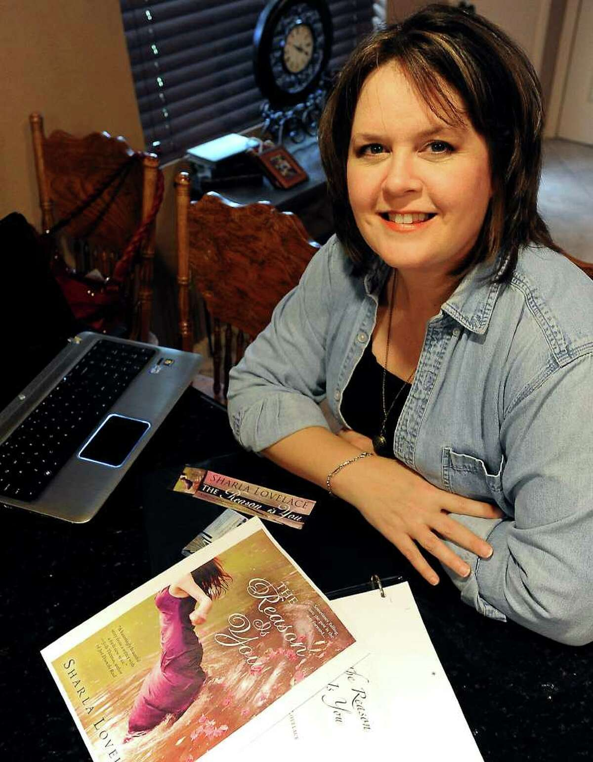 """Port Neches resident, Sharla Lovelace is the author of """"The Reason Is You"""", Thursday, March 15, 2012. Tammy McKinley/The Enterprise"""