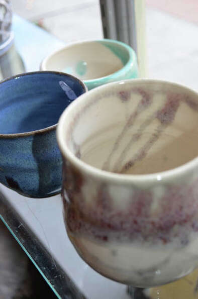 Bianca Dupuis, potter and owner of The Broken Mold in Troy, makes bowls, mugs, plates, and other