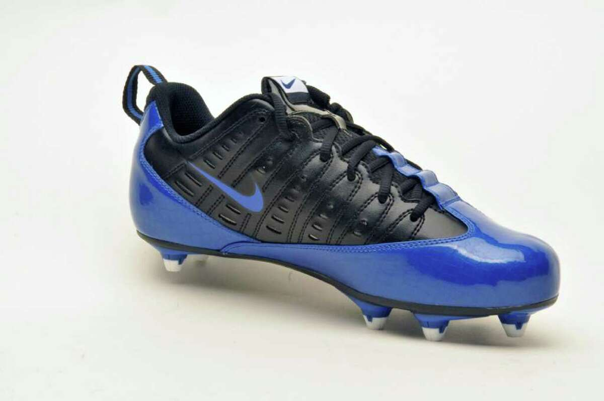 A Nike football shoe in the Times Union Studio Wednesday July 13, 2011. (John Carl D'Annibale / Times Union)