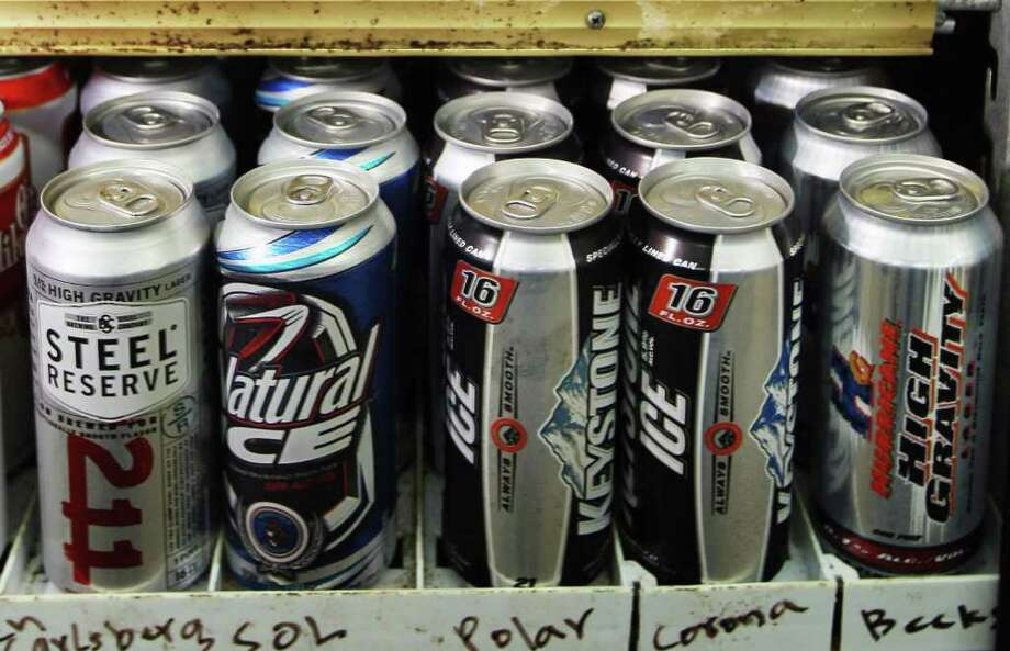 Steel Reserve, Natural Ice, Keystone Ice and Hurricane Ice Malt Liquor are all beers now banned in Seattle alcohol impact areas. Photo: Joe Raedle/seattlepi.com, Getty Images / Getty Images North America