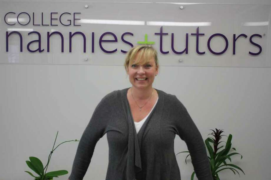 Leona Peiffer recently opened a College Nannies and Tutors office in Darien where she hopes to help parents find quality child care without spending hours and hours looking for qualified people. Photo: Ben Holbrook