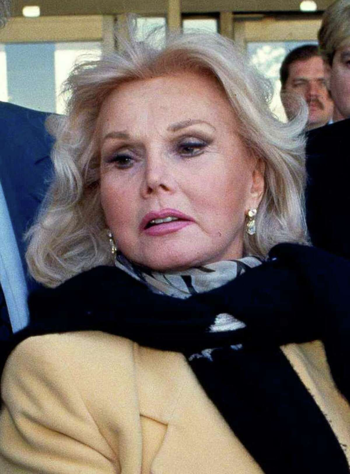 FILE - In this Jan. 27, 1993 file photo, actress Zsa Zsa Gabor is shown in Midland, Texas. Constance Francesca Hilton , the daughter of Gabor, is asking a Los Angeles court to place her mother in a conservatorship that will independently control the ailing glamor queen's medical care and financial needs. (AP Photo/Curt Wilcott, File)