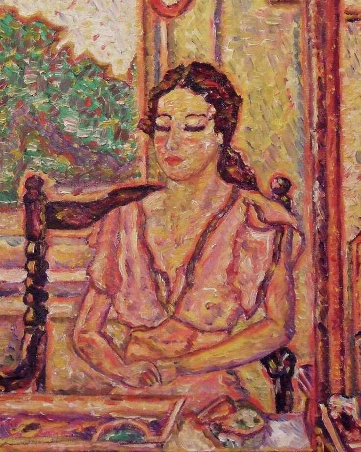 """""""In My Studio,"""" an oil-on-canvas self-portrait, will be featured in a collection of works mostly from the 1920s and 30s by Paula Eliasoph that will be on display in Fairfield March 31 through April 28. Photo: Contributed Photo / Connecticut Post Contributed"""