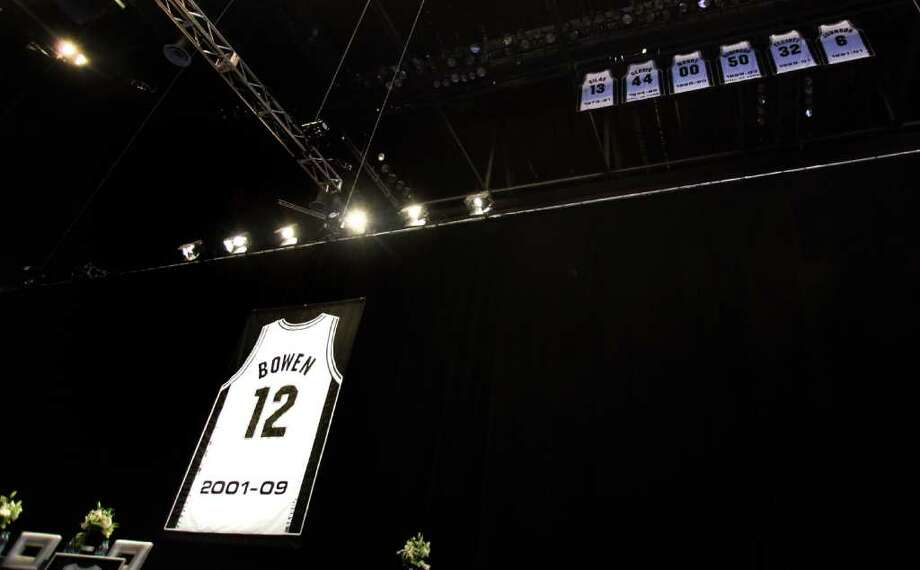 Luncheon for Bruce Bowen jersey retirement at the ATT Center, Monday, March 19, 2012.  Bob Owen/San Antonio Express-News. Photo: BOB OWEN, San Antonio Express-News / © 2012 San Antonio Express-News
