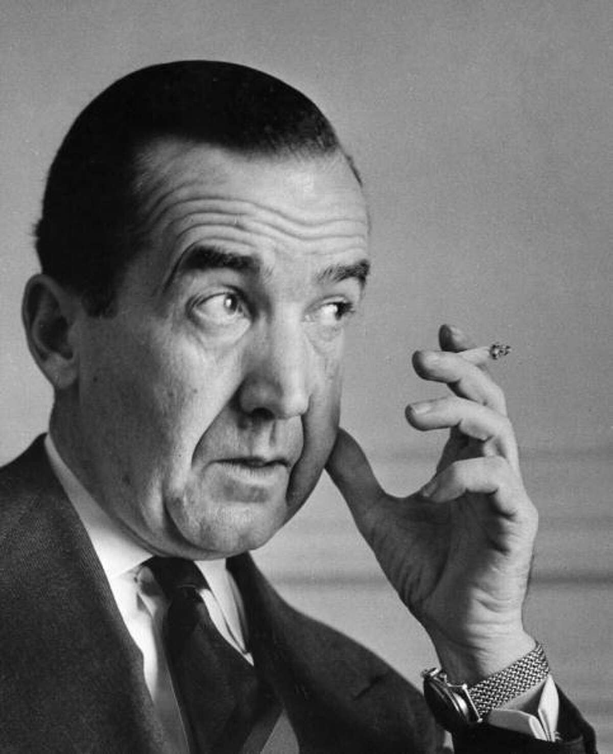 Broadcaster Edward R. Murrow is best known for his television reports on Senator Joseph McCarthy. Born in North Carolina, Murrow was raised in Skagit County and graduated from Washington State University. He never worked for a local TV station, but, then again, they didn't exist when he started out in 1937.