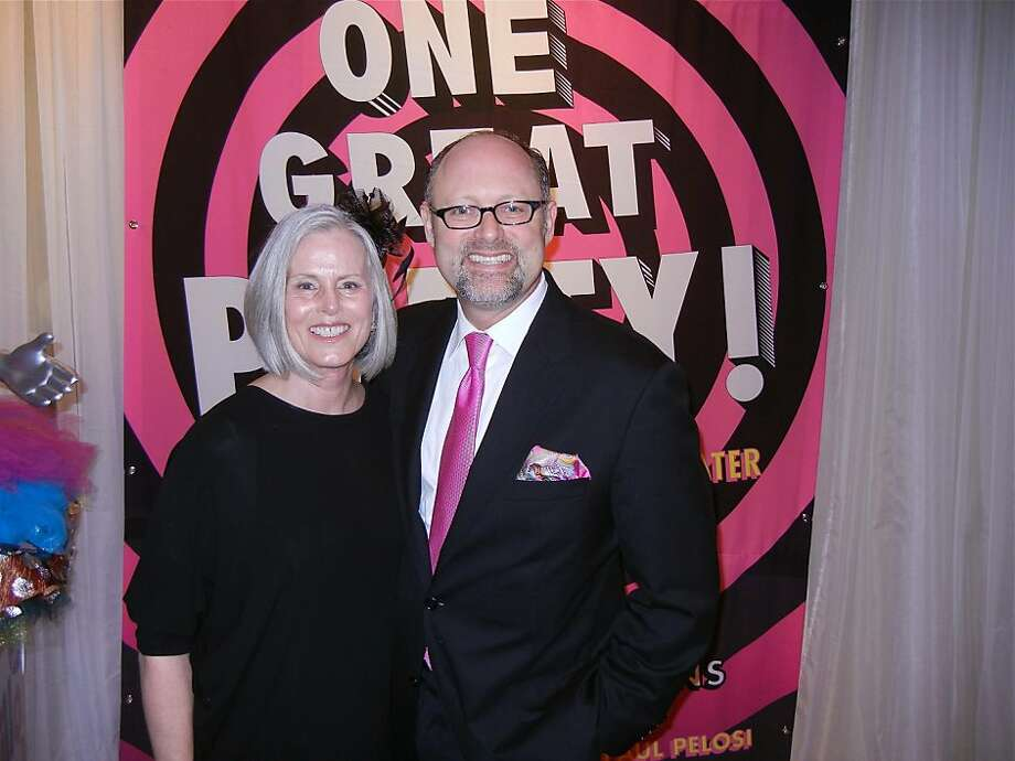 One Great Party Gala chairwoman Jean Simpson and CalShakes Artistic Director Jonathan Moscone. March 2012. By Catherine Bigelow. Photo: Catherine Bigelow, Special To The Chronicle