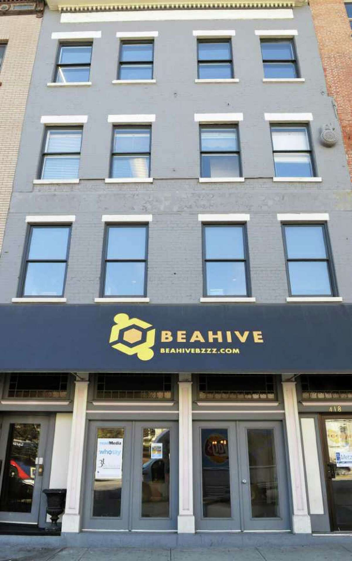 Exterior of Beahive, Albany's first coworking space Tuesday March 20, 2012. (John Carl D'Annibale / Times Union)