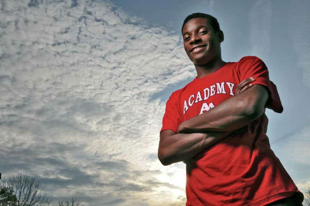Albany Academy diver Manny Pollard poses for portrait on Monday evening March 19, 2012 in Colonie, N.Y. (Philip Kamrass / Times Union )