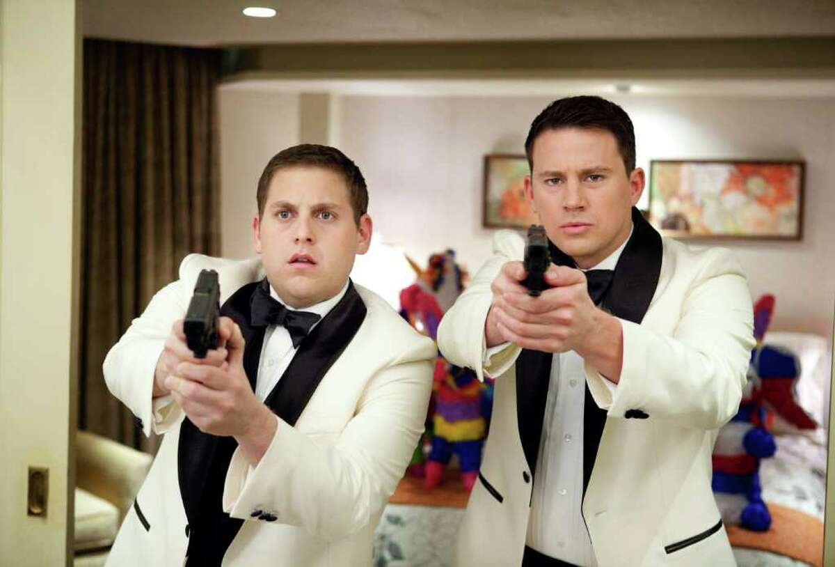 """Jonah Hill, left, and Channing Tatum star in Columbia Pictures' action comedy """"21 Jump Street."""" (Courtesy of Scott Garfield/Columbia Pictures/MCT)"""