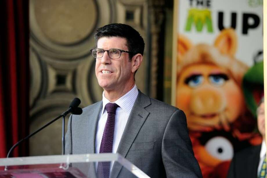 (L-R) Walt Disney Studios President Rich Ross, attends the star unveiling ceremony for The Muppets who were honored with 2,466th Star on the Hollywood Walk of Fame in front of the El Capitan Theatre on March 20, 2012 in Hollywood, California.   (Frazer Harrison / Getty Images)