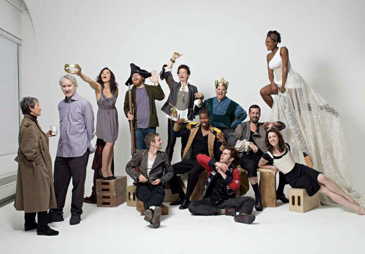 Co-founders Kevin Kline and Margot Harley with The Acting Company Cast Members (Photographer Brigitte Lacombe)
