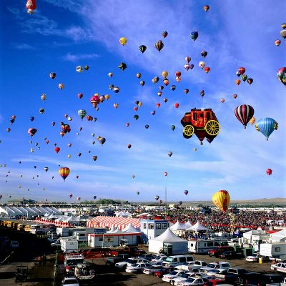 The Albuquerque International Balloon Fiesta Albuquerque, New Mexico features hundreds of hot air balloons from all around the world.  (Handout / MCT)