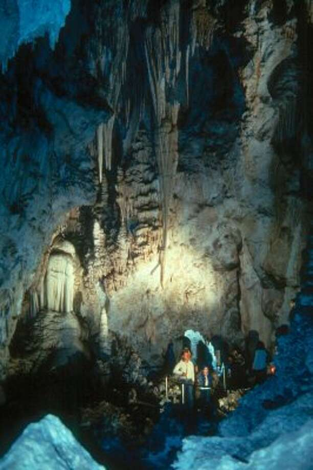 Carlsbad Caverns National Park, shown in an undated photo from the New Mexico Department of Tourism, is a favorite tourist attraction.   (AP / AP)