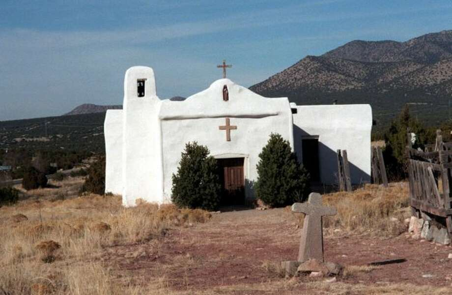 The San Francisco Church has been a focal point of Golden, New Mexico for 170 years. It is one of the many gems providing wonderful views on New Mexico's Turquoise Trail.  (Larry Bleiberg / KRT)