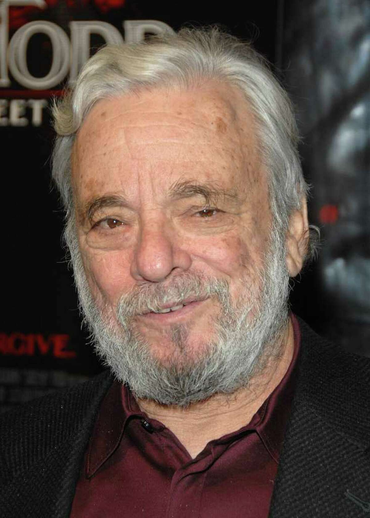 FILE - In this Dec. 3, 2007 file photo, composer Stephen Sondheim arrives at the premiere of