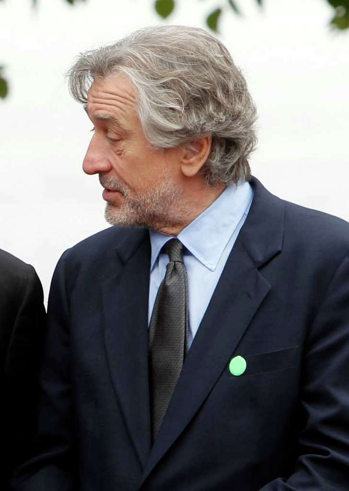 FILE - In this Sept. 22, 2011 file photo, actor Robert De Niro is seen in New York. De Niro opened a fundraiser starring Michelle Obama by listing her Republican rivals and jokingly suggesting that America isn't