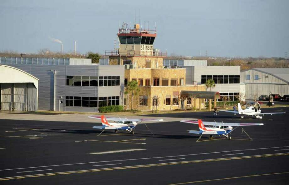 General aviation has been hurt by rising cost of fuel, but Stinson Municipal Airfield has benefited from being convenient to the Eagle Ford Shale play. Photo: BILLY CALZADA, SAN ANTONIO EXPRESS-NEWS / gcalzada@express-news.net