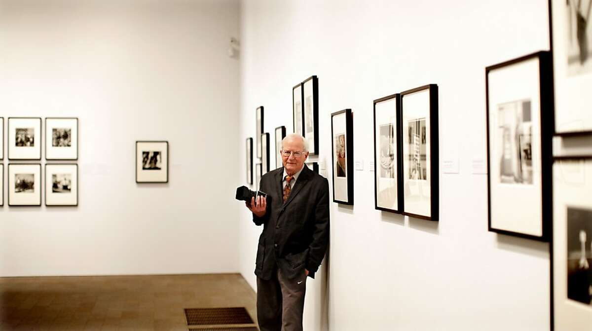 Photographer Arthur Tress poses for a picture at De Young Museum, San Francisco, Ca, where his images of San Francisco in 1964 are on display on March 5, 2012.