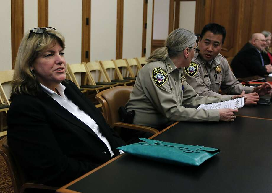 Vicki Hennessy attends a meeting of the Public Safety Committee at City Hall in San Francisco, Calif. on Wednesday, March 21, 2012. Hennessy was sworn-in as Sheriff shortly after the meeting adjourned. Photo: Paul Chinn, The Chronicle
