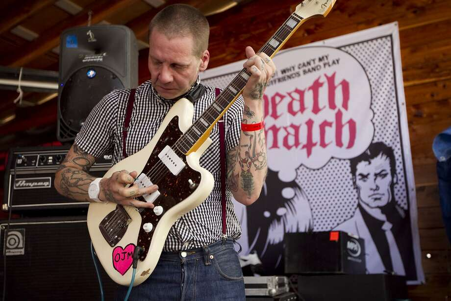 Petey Dammit of Thee Oh Sees performs at the Thrasher and Converse Death Match side party at Scoot Inn during SXSW on Thursday March 15, 2012 in Austin, Texas. (AP Photo/Austin American-Statesman, Jay Janner)  MAGS OUT; NO SALES; INTERNET AND TV MUST CREDIT PHOTOGRAPHER AND STATESMAN.COM Photo: Jay Janner, Associated Press