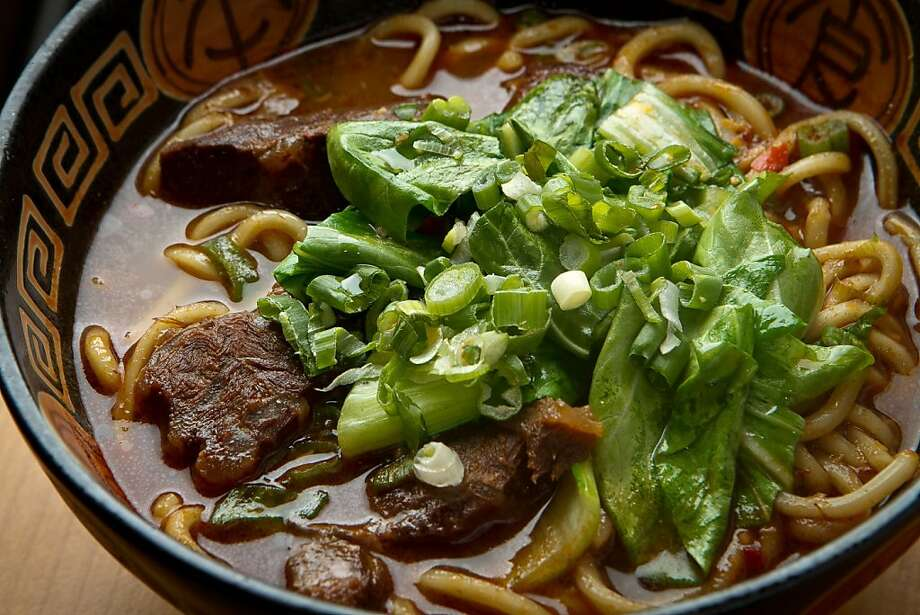 The Braised Beef with Noodle Soup at the Taste of Formosa Restaurant in San Francisco,  Calif., is seen on Saturday, March 17th, 2012. Photo: John Storey