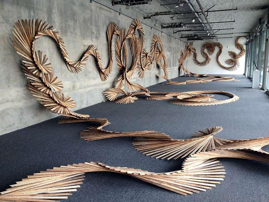 Barbara Holmes' installation Photo: Recology
