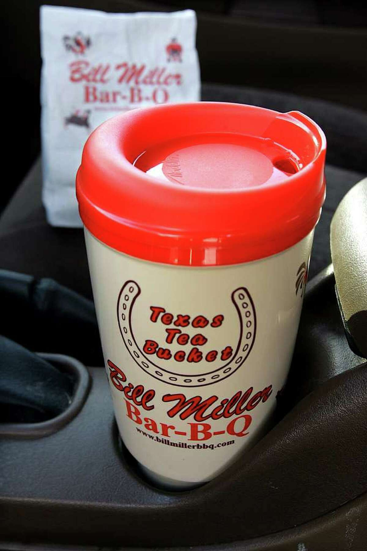 In honor of Tax Free Weekend, Bill Miller Bar-B-Q is offering a free tea refill when you bring in your Bill Miller Cup.