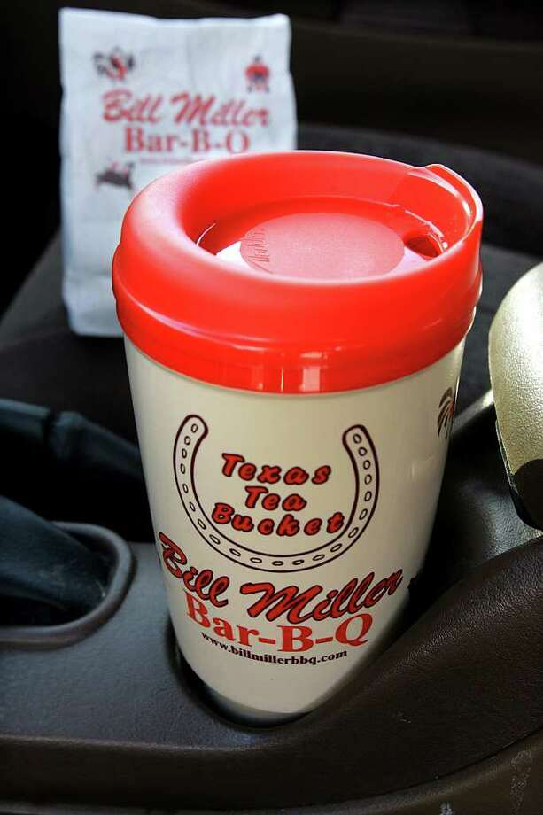 In honor of Tax Free Weekend, Bill Miller Bar-B-Q is offering a free tea refill when you bring in your Bill Miller Cup. Photo: KEVIN GEIL, SAN ANTONIO EXPRESS-NEWS / SAN ANTONIO EXPRESS-NEWS