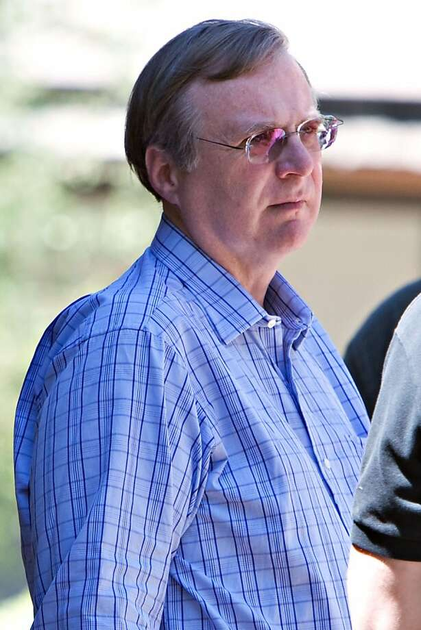 Paul Allen, co-founder of Microsoft Corp., walks outside during lunch hour at the 26th annual Allen & Co. Media and Technology Conference in Sun Valley, Idaho, U.S., on Thursday, July 10, 2008. The conference runs until Saturday, July 12. Photographer: Matthew Staver/Bloomberg News Photo: Matthew Staver, Bloomberg News